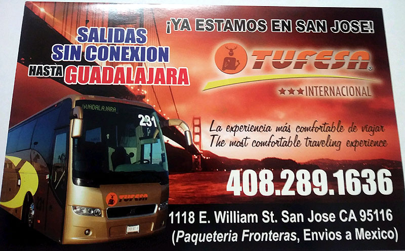 Bus Ticket Sales and Package Services, Tufesa San Jose